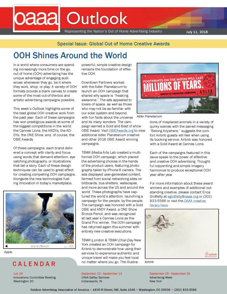 OOH Shines Around the World